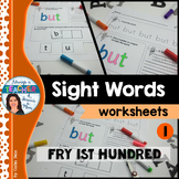 Sight Words Worksheets - Fry 1-100