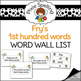 Spelling - Fry's 1st Hundred Word Wall List - Complete set