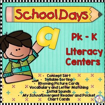 Back To School Literacy Centers ~ PK K