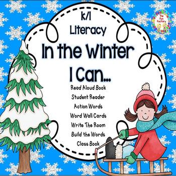 Verbs - Winter Literacy   for K-1