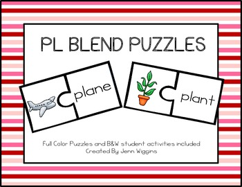 PL Blend Puzzles ~ 14 Puzzles Plus Follow Up Activities