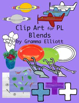 PL Blends -  Color and Black Line Clip Art