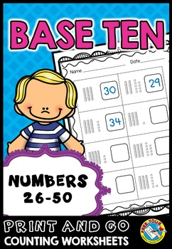 PLACE VALUE PRINTABLES: NUMBERS 26 TO 50 PLACE VALUE WORKS