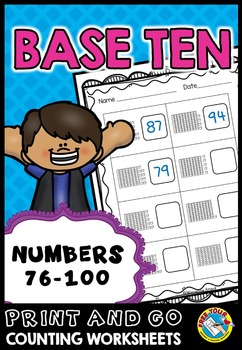 PLACE VALUE PRINTABLES: NUMBERS 76 TO 100 PLACE VALUE WORK