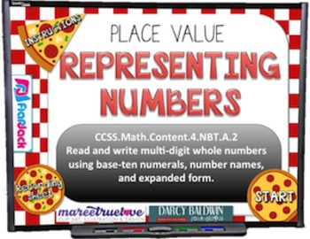 PLACE VALUE Pizza PowerPoint Game (CCSS 4.NBT.A.2)