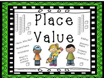 PLACE VALUE bundle 55 pages!!