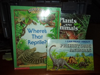 PREHISTORIC ANIMALS, REPTILE, PLANTS AND ANIMALS (SET OF 3)