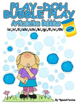 PLAY-DOH BUBBLE PLAY ARTICULATION BUBBLES- s, l, r, th, sh