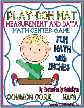 PLAY DOH MEASUREMENT BY INCHES MAT CENTER GAMES COMMON COR