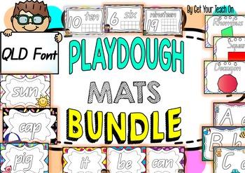 PLAYDOUGH MATS BUNDLE ~ QLD FONT