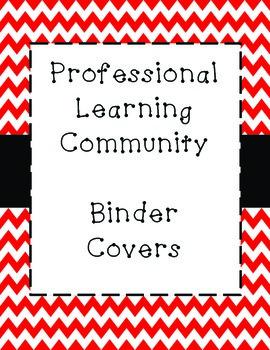 PLC Binder Covers - Red Chevron
