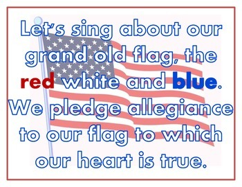PLEDGE TO THE FLAG SONG