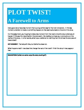 PLOT TWIST!  A Farewell to Arms