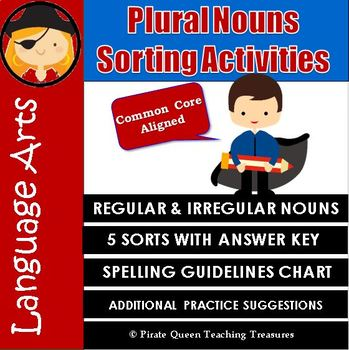 PLURAL NOUNS Sorting Activities CCSS Aligned 3rd Grade Up