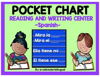 POCKET CHART READING and WRITING CENTER ~~Spanish~~