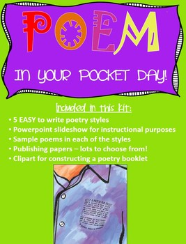 """POEM IN YOUR POCKET DAY - A Simple """"Study-Practice-Publish"""