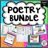 POETRY UNIT BUNDLE- Poetry Elements, Poetry Booklet, Poetr
