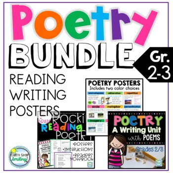 POETRY Reading and Writing Bundle ~ Poetry Unit 2nd Grade