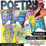 POETRY WRITING ACTIVITIES, POEM IN YOUR POCKET PENNANT, CR