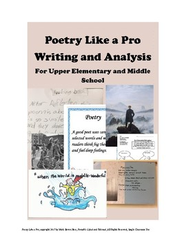 POETRY like a PRO - Analysis and Writing for 4th through 8