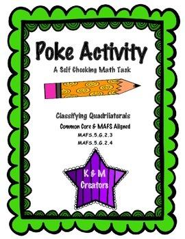 POKE Self Checking Math Task - Classifying Quadrilaterals: