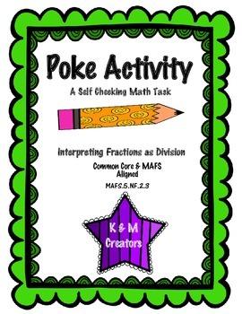 POKE Self Checking Math Task - Interpreting Fractions as D