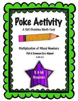 POKE Self Checking Math Task - Multiplication of Mixed Num