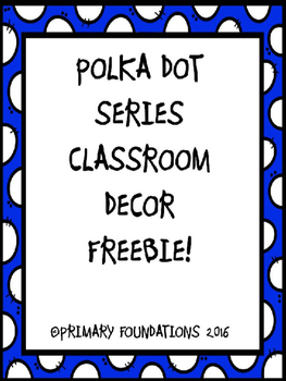 POLKA DOT SERIES DECOR FREEBIE