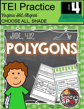 TEI Technology Enhanced Item Printable Practice POLYGONS V