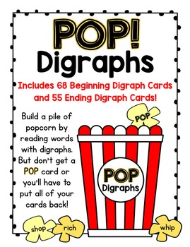 POP!  A Beginning and Ending Digraphs Card Game