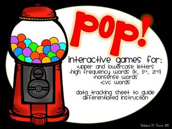 POP!  Differentiated Letter and Word Games