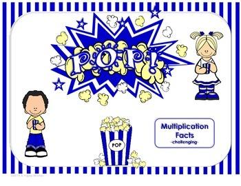 POP! Multiplication Facts-challenging (3rd Grade)