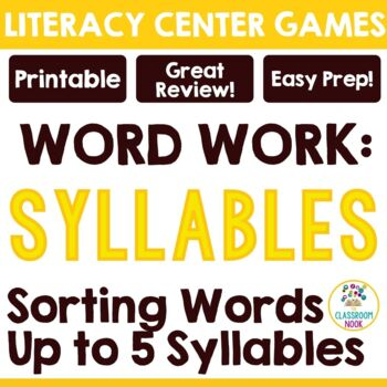POP! Words{A Syllable Sorting Game}