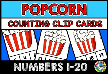 POPCORN COUNTING CENTER: POPCORN COUNTING CLIP CARDS: NUMB