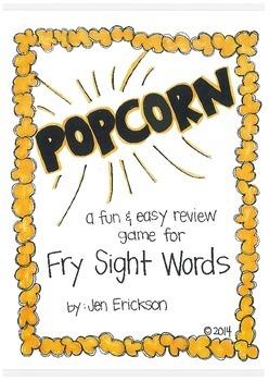 POPCORN!  Fry Sight Words