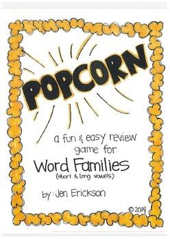 POPCORN!  Word Families