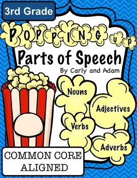 3rd Grade Popping Up Popcorn PARTS OF SPEECH Activity {COM