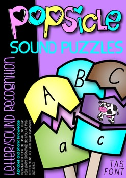 POPSICLE SOUND PUZZLES - QLD, NSW, VIC, TAS & SA FONTS