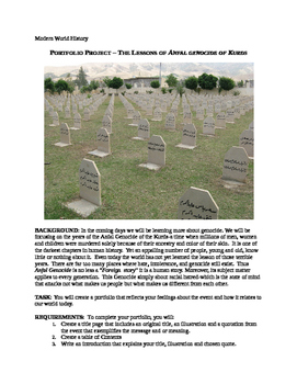 PORTFOLIO PROJECT – THE LESSONS OF ANFAL GENOCIDE OF KURDS