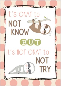POSITIVE CLASSROOM Poster - Okay to Try
