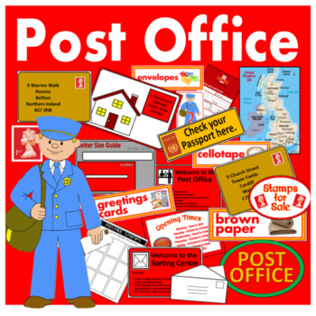 POST OFFICE ROLE PLAY TEACHING RESOURCES EARLY YEARS KEY S