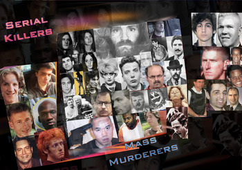 Serial Killers & Mass Murderers in America ~  FREE POSTER