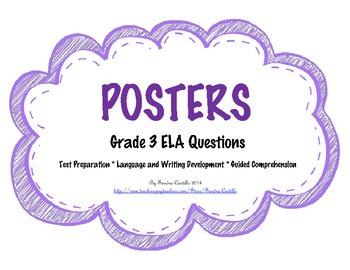 POSTERS of 3rd Grade ELA Questions - CCLS aligned