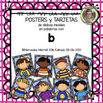 POSTERS y TARJETAS de sílabas iniciales en palabras con b