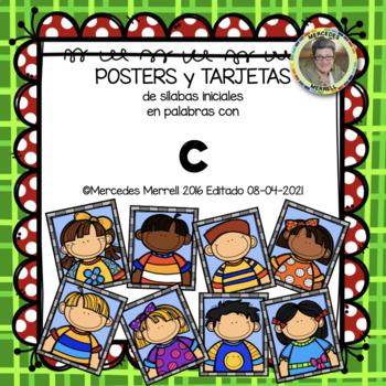 POSTERS y TARJETAS sílabas iniciales en palabras con c (en