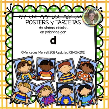 POSTERS y TARJETAS sílabas iniciales en palabras con d (en