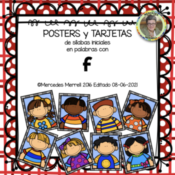 POSTERS y TARJETAS sílabas iniciales en palabras con f (en