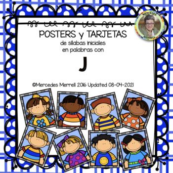 POSTERS y TARJETAS de sílabas iniciales en palabras con j