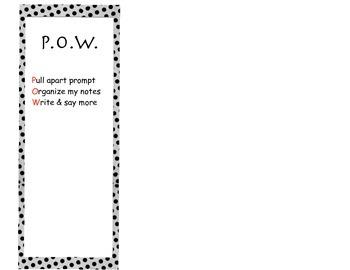 P.O.W. bookmark