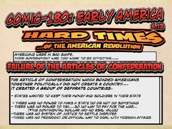POWERPOINT, Hards Time of the American Revolution by Comic